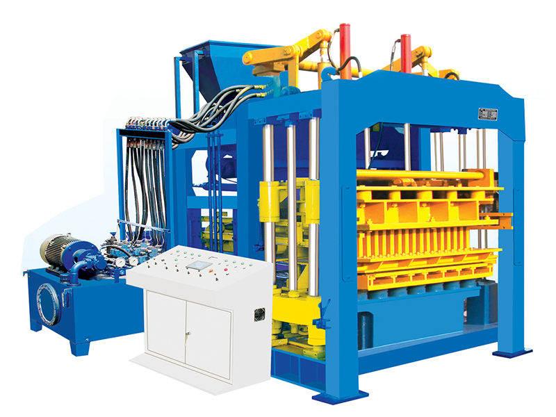 interlocking block machine