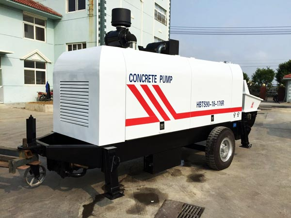 trailer mounted concrete pump for sale